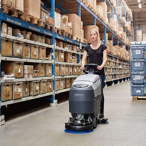 advance sc401 walk behind scrubber for sale 3
