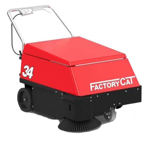 Factory Cat 34 Walk Behind Floor Sweeper for sale.